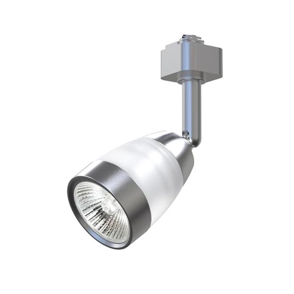 Brushed Nickel 1-Light Integrated LED Linear Track Frosted Middle Glass Head