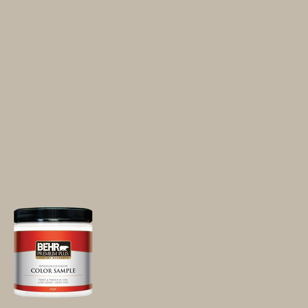 BEHR Premium Plus 8 oz. #730C-3 Castle Path Flat Zero VOC Interior/Exterior Paint and Primer in One Sample