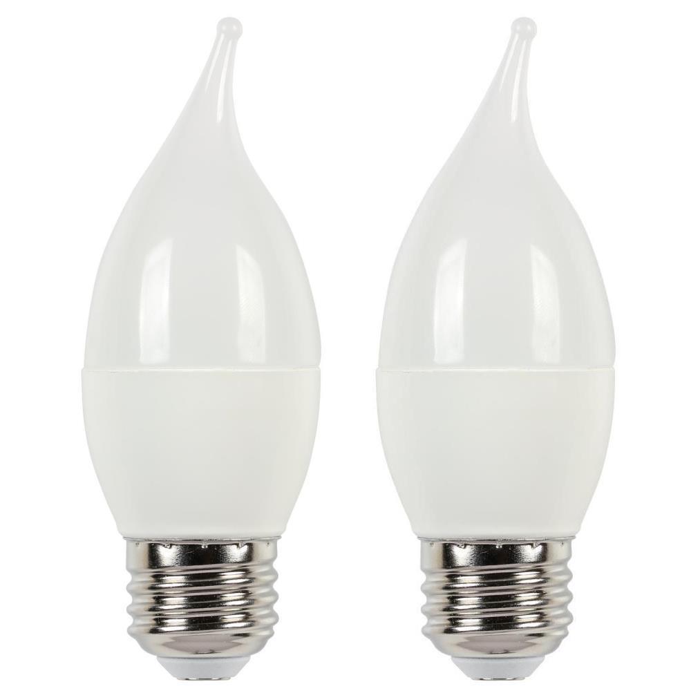60W Equivalent Soft White C13 LED Light Bulb (2 Pack)