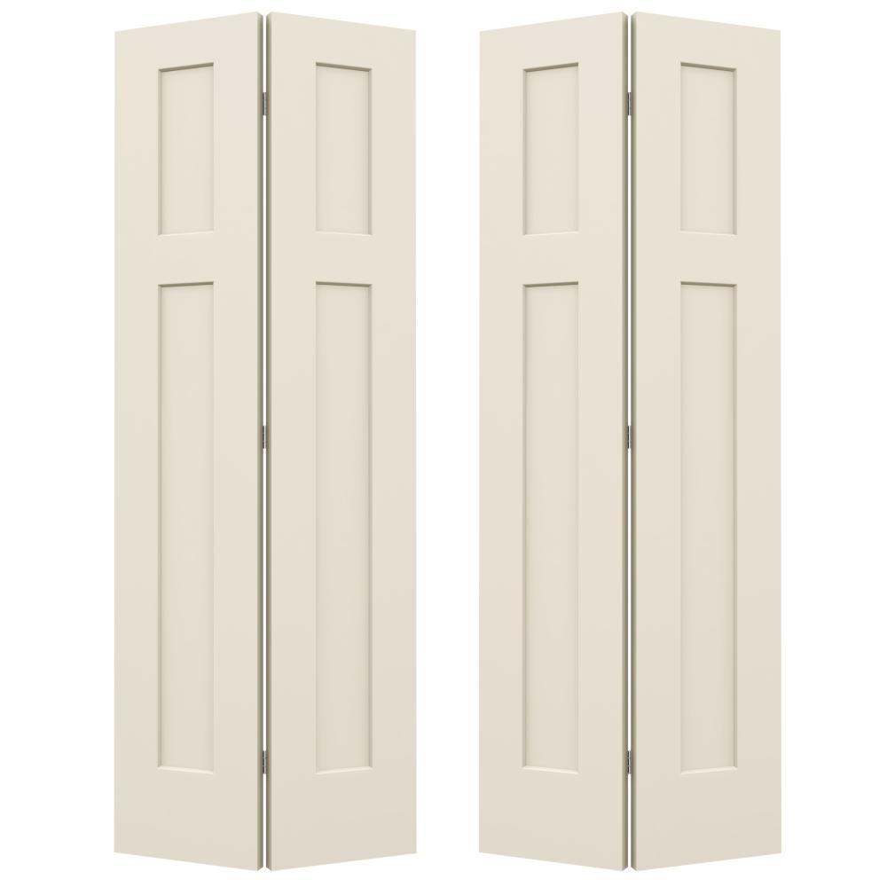 Ordinaire Smooth 3 Panel Craftsman Hollow Core Molded Interior Closet Composite  Bi Fold Double Door