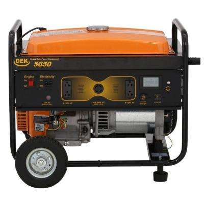 5650-Watt Gasoline Powered Portable Generator