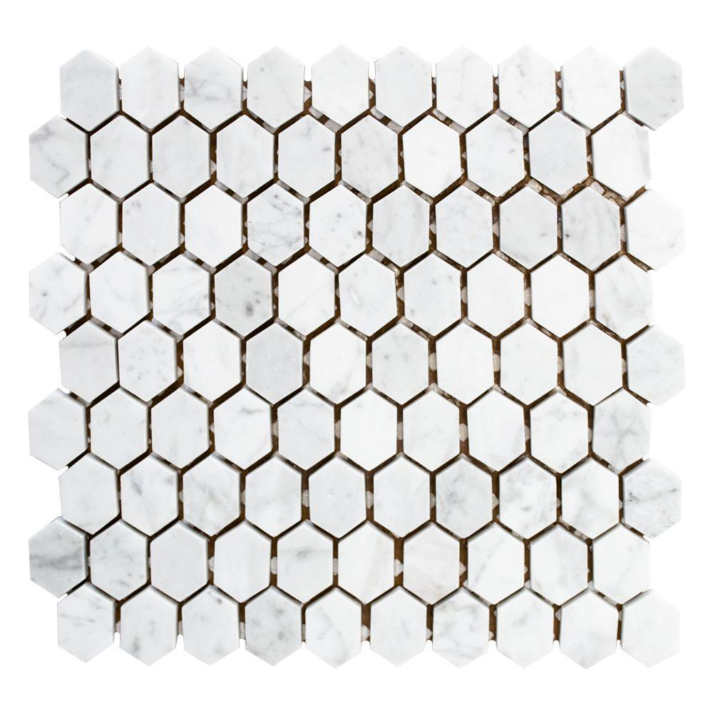 Marble - Mosaic Tile - Tile - The Home Depot