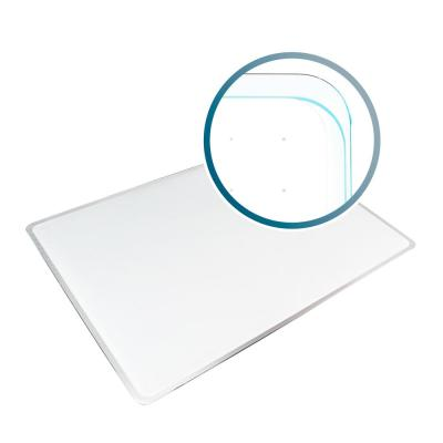 Viztex® Glacier 17 in. x 23 in. White Multi-Purpose Grid Glass Dry Erase Board