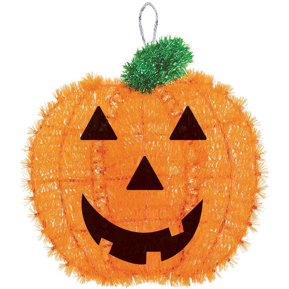 13 in. x 12 in. Pumpkin Tinsel Decoration (6-Pack)