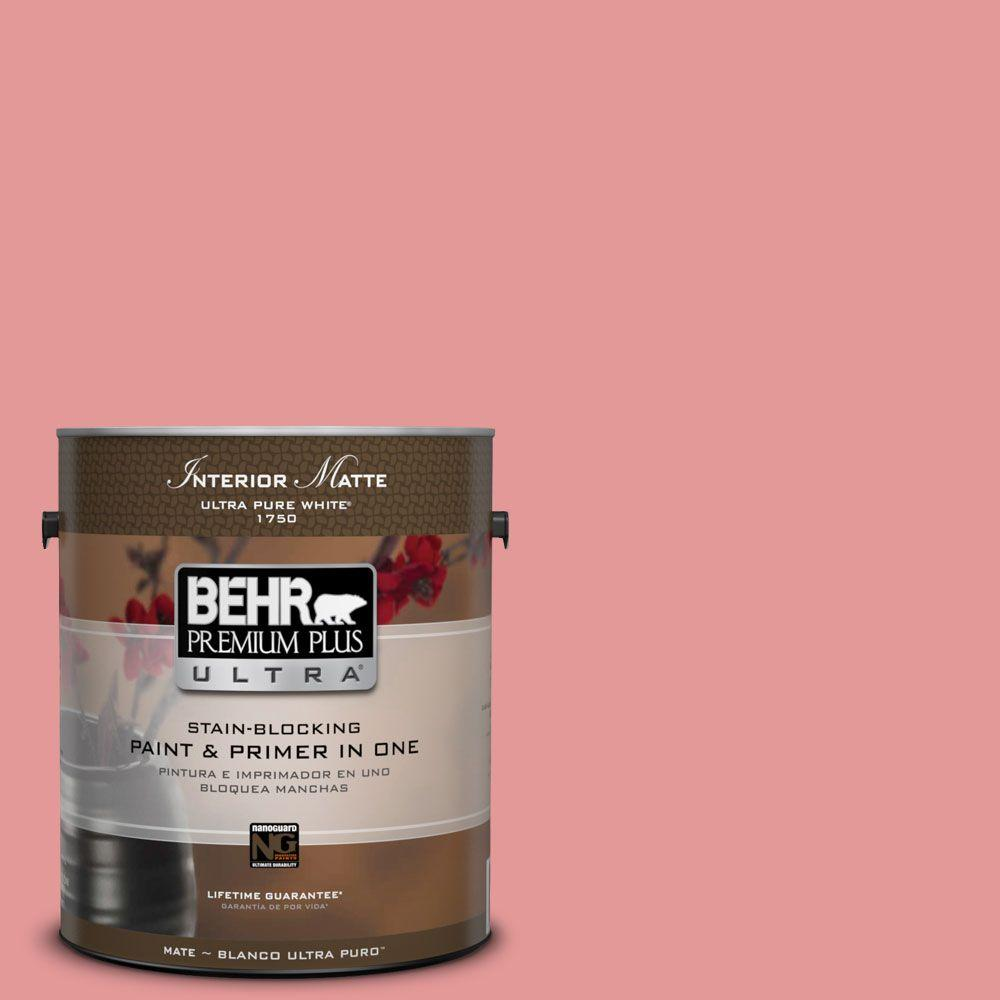 1 gal. #M160-4 She Loves Pink Matte Interior Paint