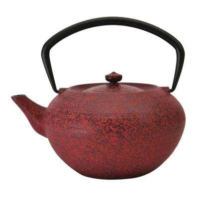 Studio 1.4 Qt. Red Cast Iron Teapot