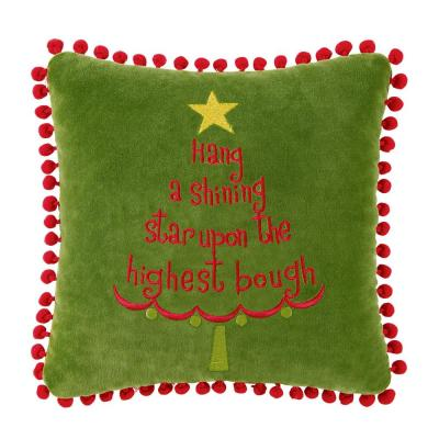 Green  10 in.  x 10 in.  Hang A Shining Pillow