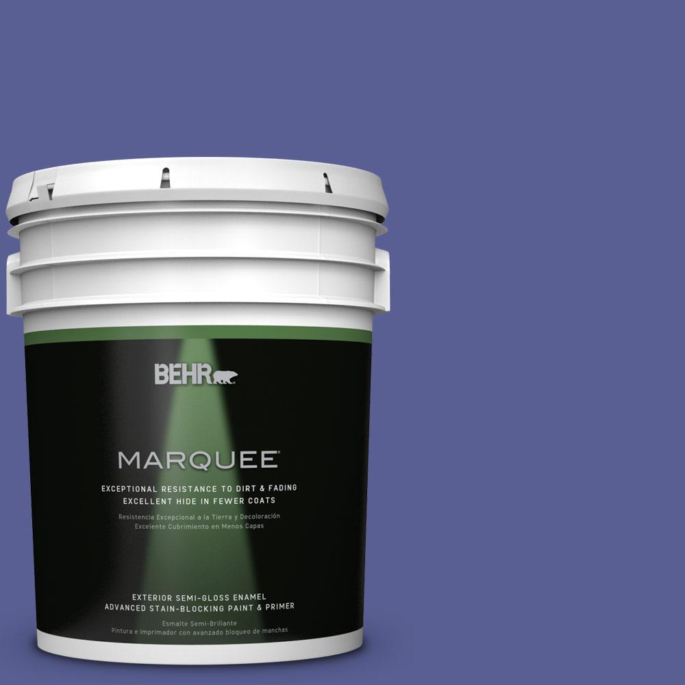 BEHR MARQUEE 5-gal. #S-G-620 Wizard Semi-Gloss Enamel Exterior Paint