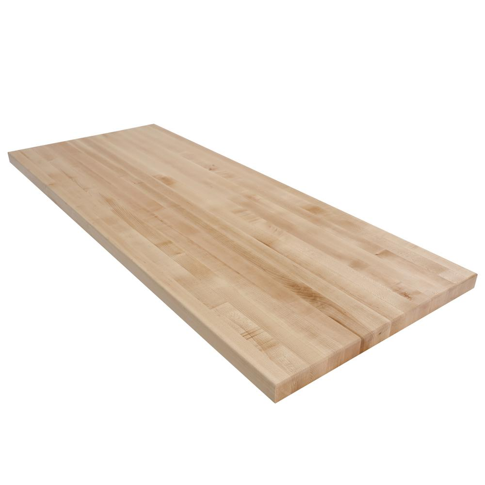 Swaner Hardwood 5 ft. L x 2 ft. D x 1.75 in. T Butcher Block Countertop in Finished Maple