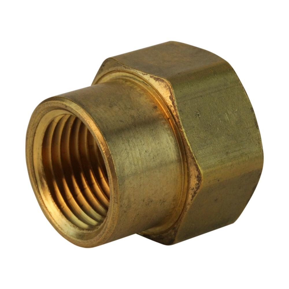 Everbilt Lead-Free Brass Garden Hose Adapter 3/4 in. FHT x 1/2 in ...