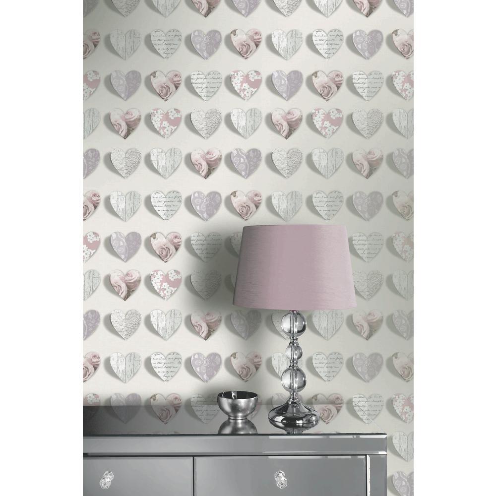 Olivia Blush Un-Pasted Wallpaper