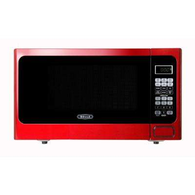 1.1 cu. ft.1000-Watt Countertop Microwave Oven in Metallic Red