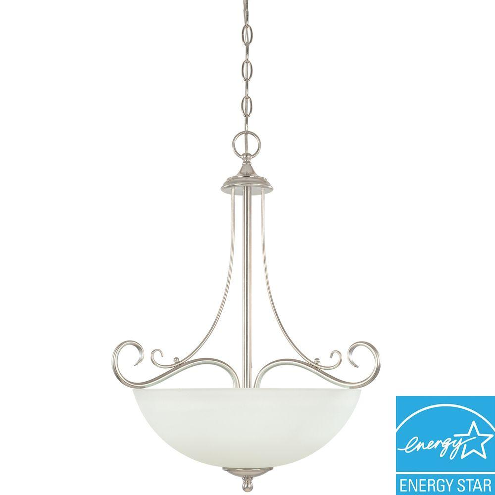 Portland Collection 1-Light Brushed Nickel Hanging Pendant