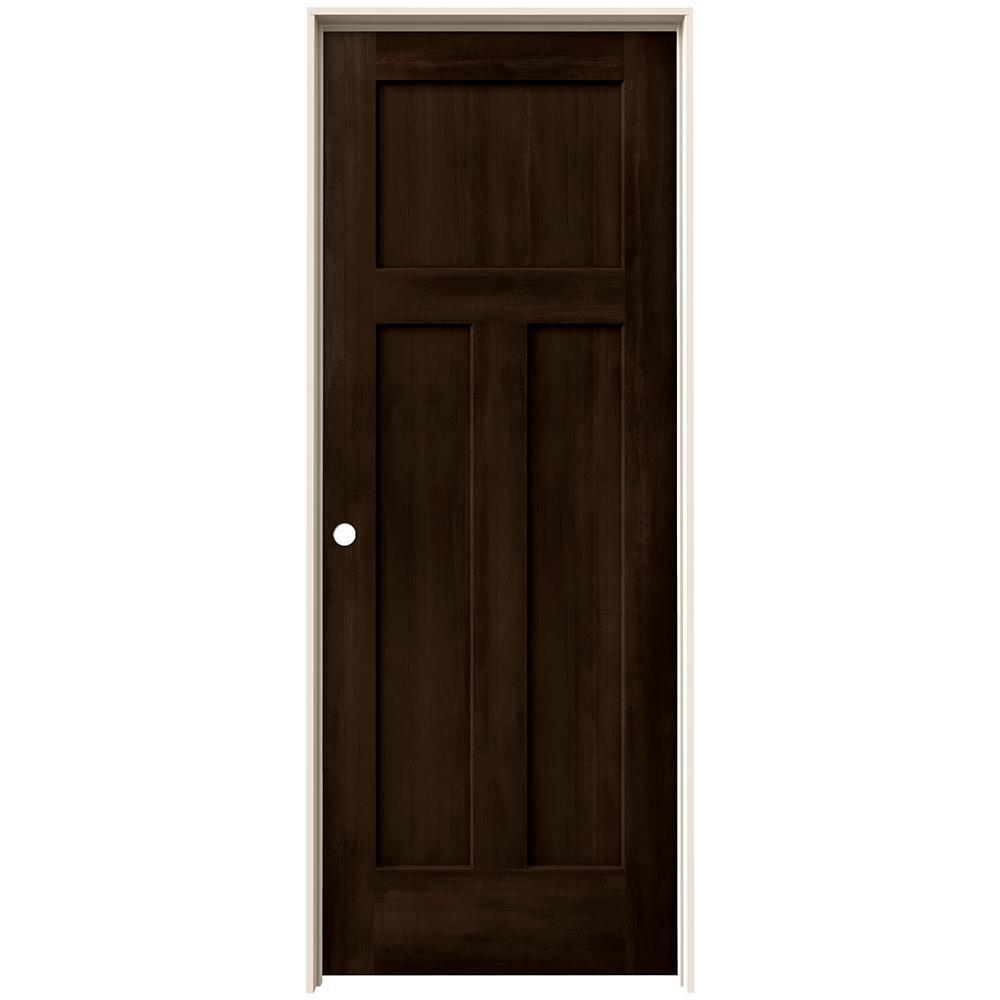 Jeld wen 30 in x 80 in craftsman espresso stain right - Interior prehung solid core doors ...