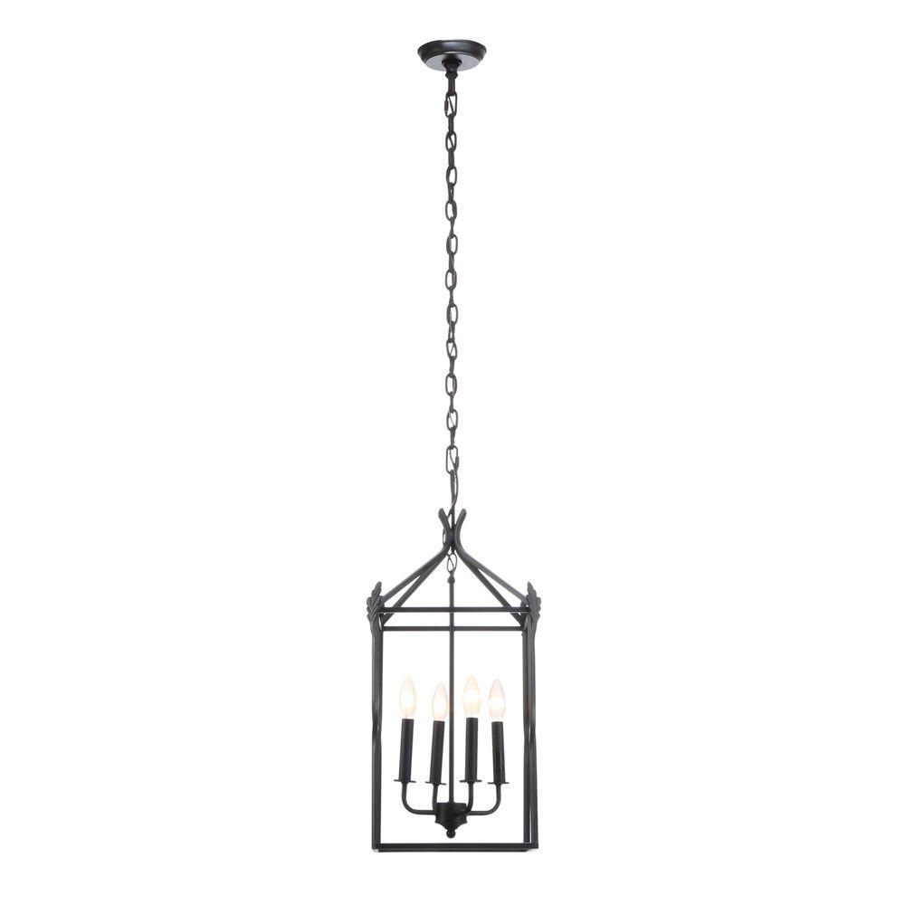 World Imports Hastings Collection 4-Light Rust Hanging Pendant