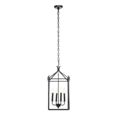 Hastings Collection 4-Light Rust Hanging Pendant
