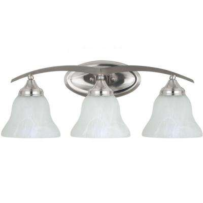 Brockton 3-Light Brushed Nickel Vanity Light