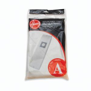 type a filtration bags for select hoover upright cleaners 3pack