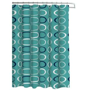 oxford weave textured 70 in w x 72 in l shower curtain with metal
