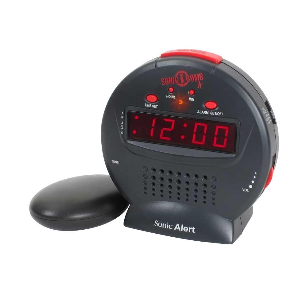 Sonic Alert Bomb Jr. Alarm Clock, Black
