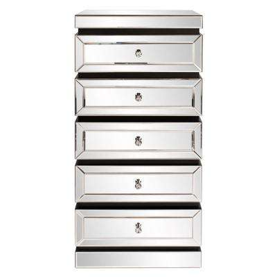 Five Tiered Mirrored Tower Dresser