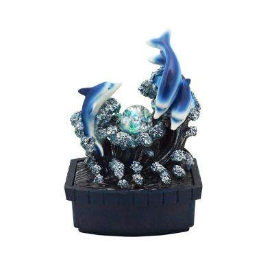 11.5 in. Dolphin Table Fountain