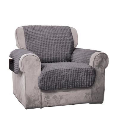 Grey Puff Chair Furniture Protector