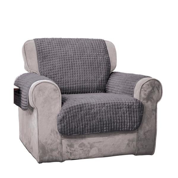Innovative Textile Solutions Grey Puff Chair Furniture