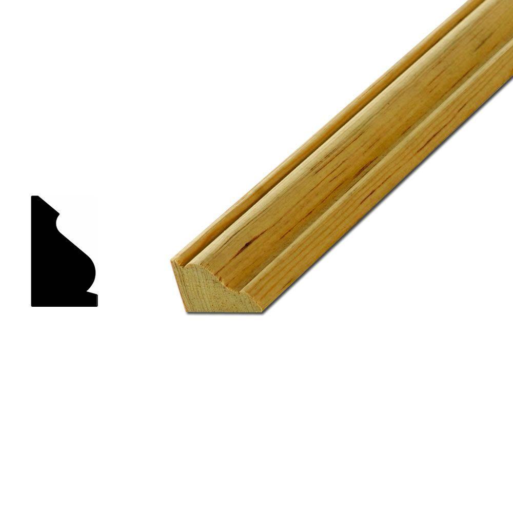 American Wood Moulding LWM218 11/16 in. x 1-1/8 in. Solid Pine ...