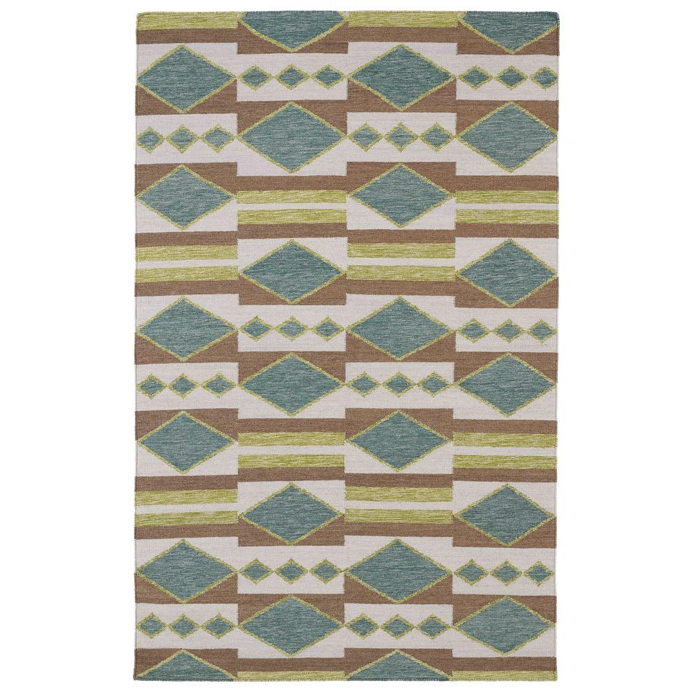 Kaleen Nomad Turquoise 8 ft. x 10 ft. Area Rug