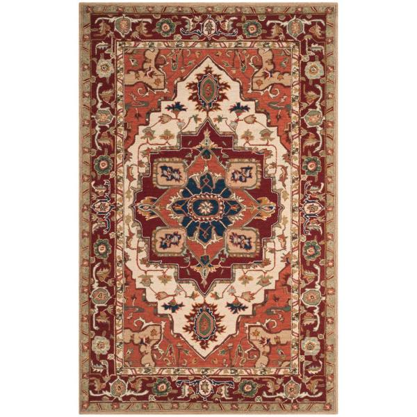 Chelsea Red/Ivory 8 ft. 9 in. x 11 ft. 9 in. Area Rug