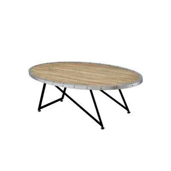Amelia Weathered Gray Oak Particle Board Coffee Table