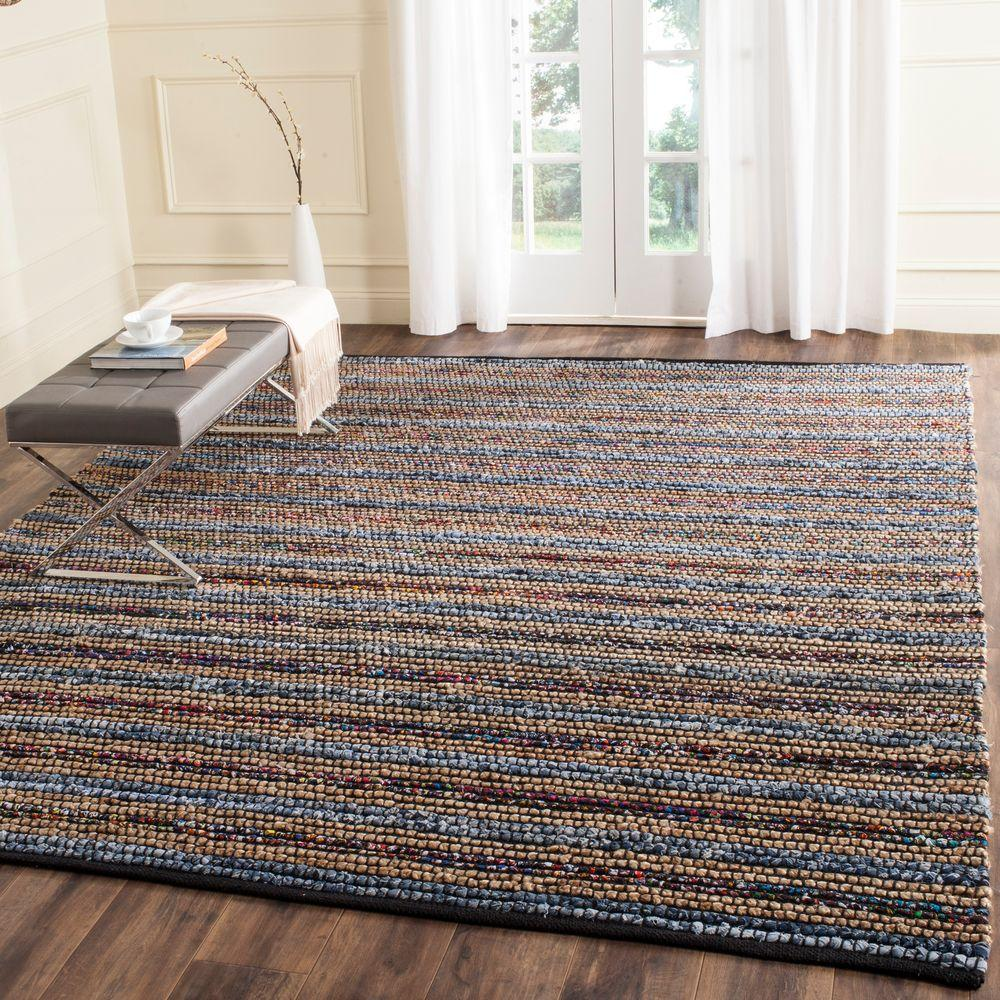 Cape Cod Blue/Multi 9 ft. x 12 ft. Area Rug