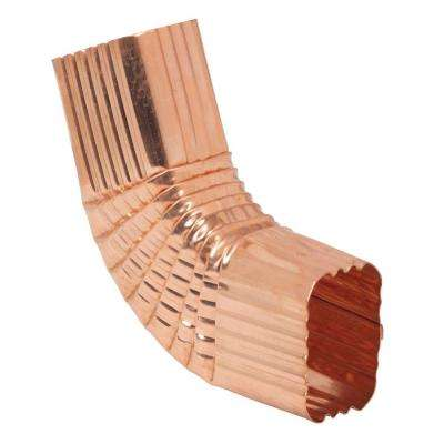 2 in. x 3 in. K-Style Copper Square Corrugated Side 75 Degree B Elbow
