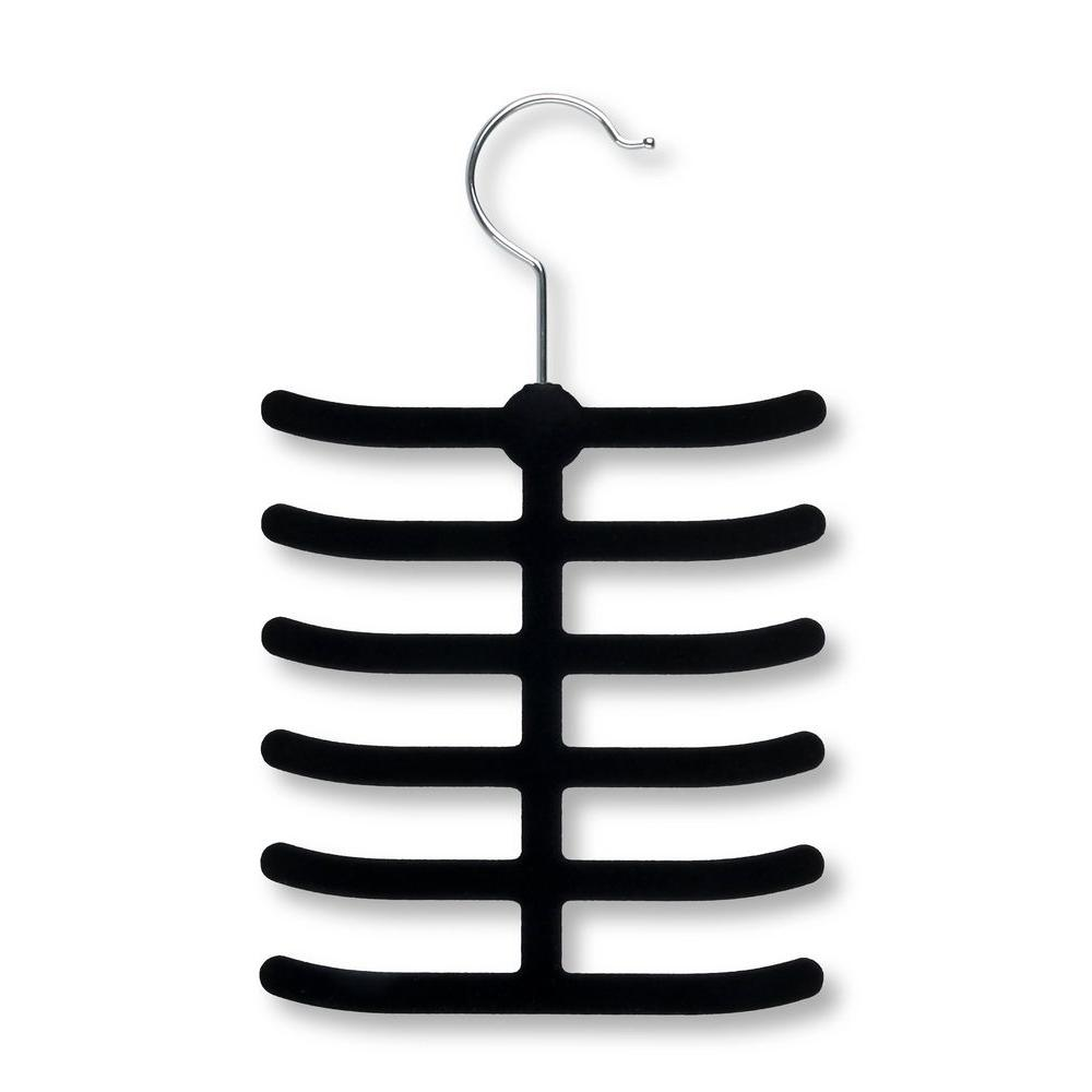 12-Hook Black Tie Hanger Rack (20-Pack)