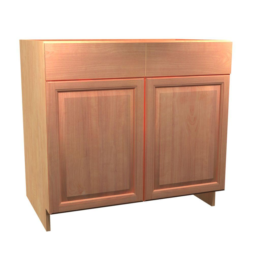 36x34.5x24 in. Ancona Sink Base Cabinet with Pullout Caddy 2 Soft