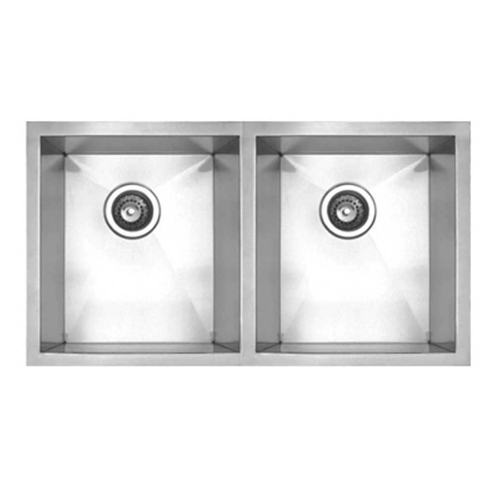 whitehaus collection noah u0027s collection undermount stainless steel 30 in  double bowl kitchen sink whitehaus collection noah u0027s collection undermount stainless steel      rh   homedepot com