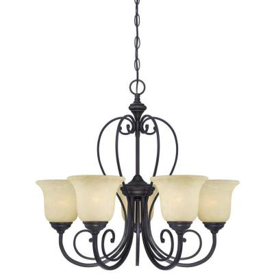 Callan 5-Light Oil Rubbed Bronze Chandelier