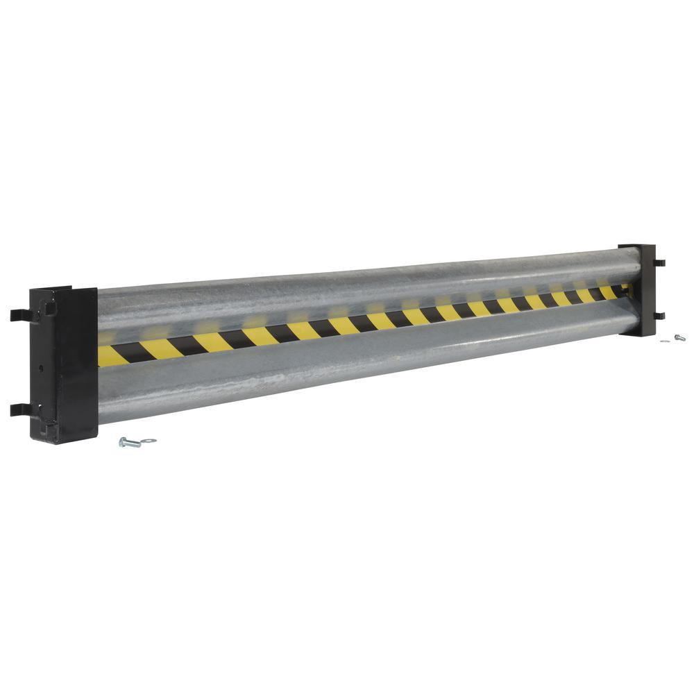 Vestil in galvanized steel guard rail with drop