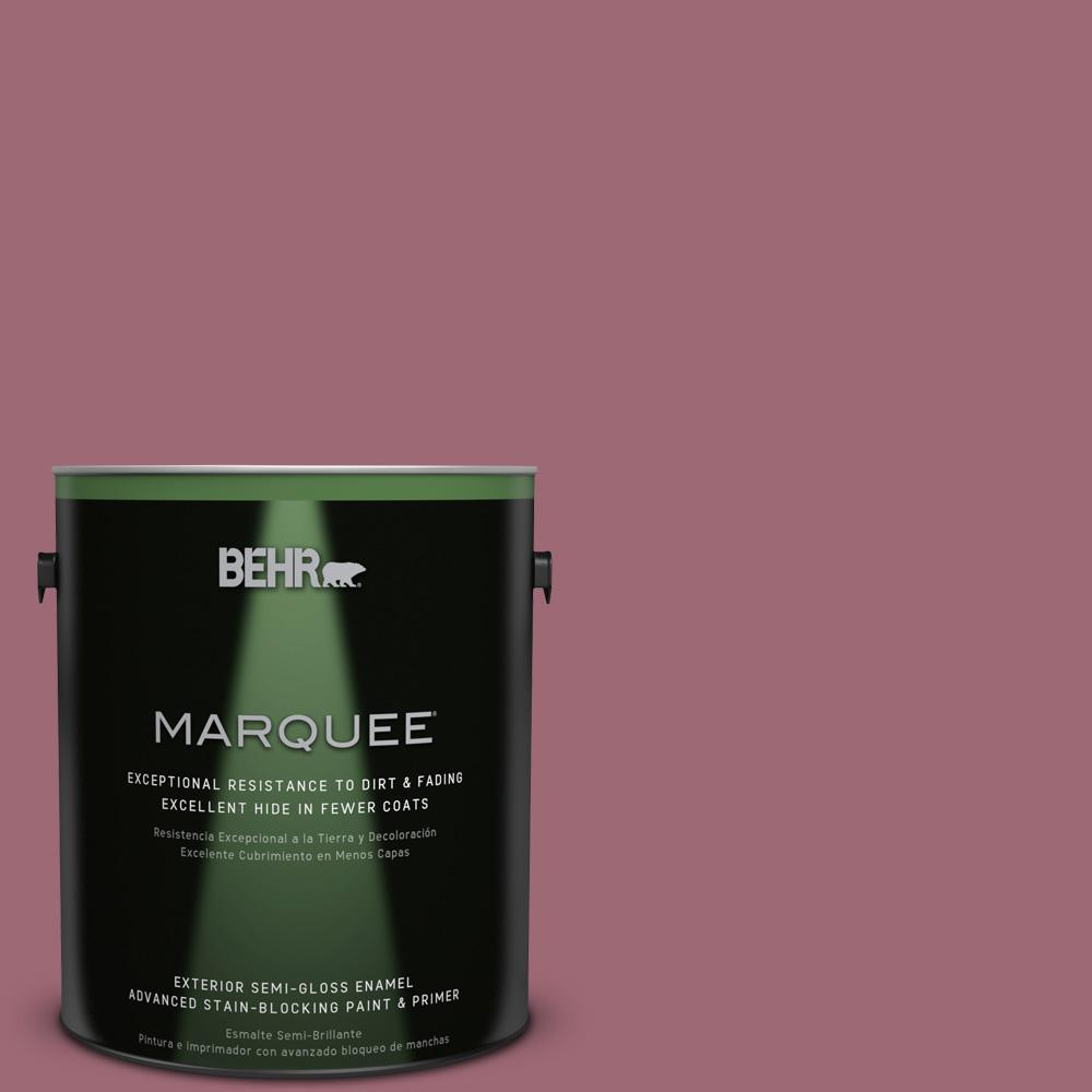 BEHR MARQUEE 1-gal. #100D-5 Berries and Cream Semi-Gloss Enamel Exterior Paint