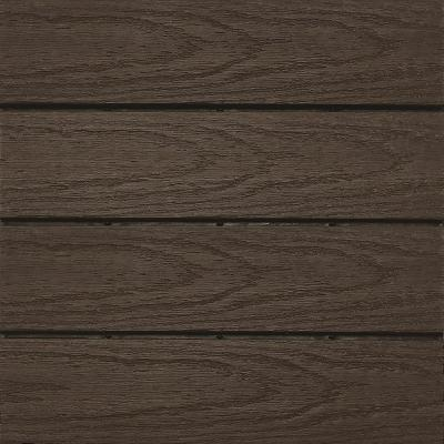 UltraShield Naturale 1 ft. x 1 ft. Quick Deck Outdoor Composite Deck Tile in Spanish Walnut (10 sq. ft. per Box)