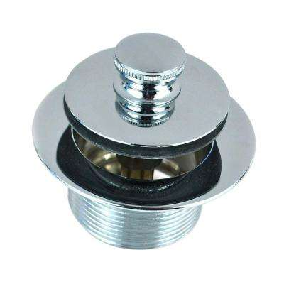 1.865 in. Overall Diameter x 11.5 Threads x 1.25 in. Push Pull Bathtub Closure in Chrome Plated