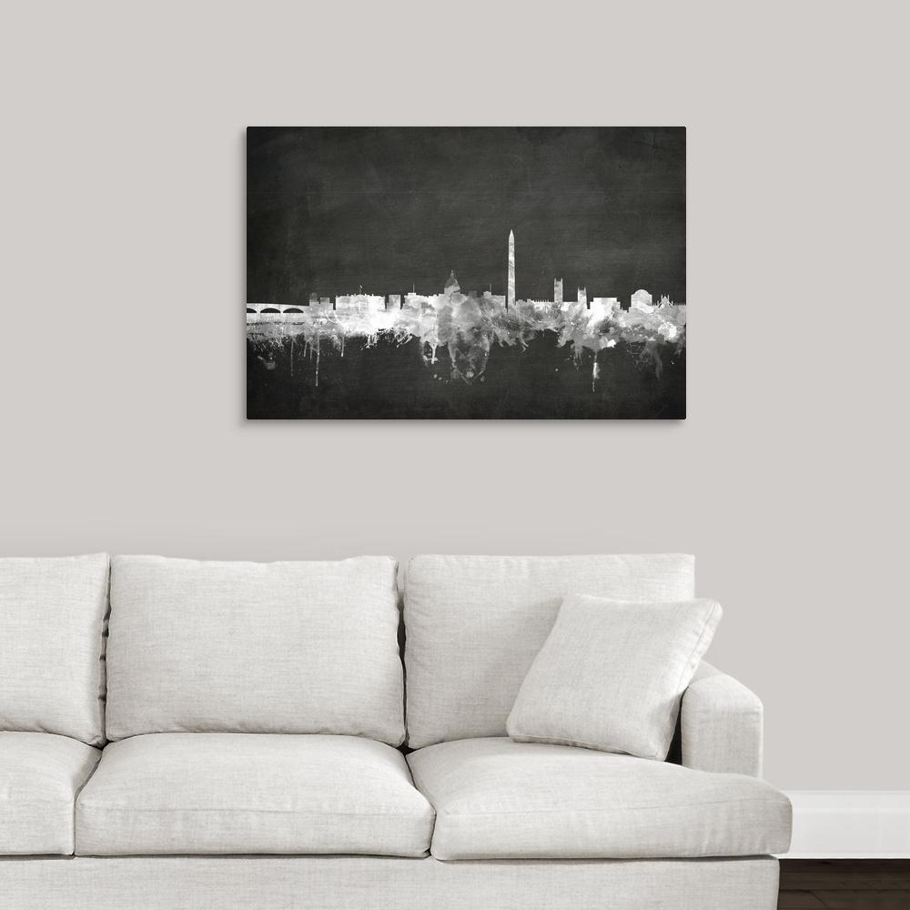 "36 in. x 24 in. ""Washington DC Skyline"" by  Michael Tompsett Canvas Wall Art"
