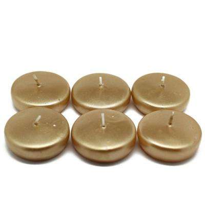 2.25 in. Metallic Gold Floating Candles (24-Box)