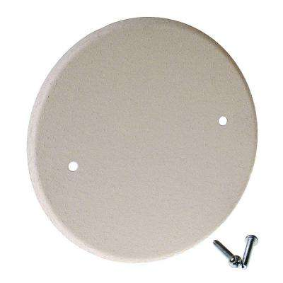 5 in. Round Blank Metal Flat Cover