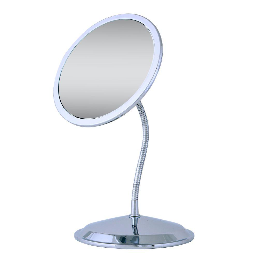 Zadro Double Vision Gooseneck Vanity Mirror In Chrome