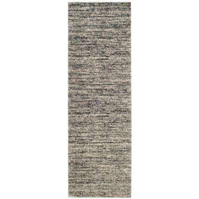 Retro Ivory/Gray 2 ft. 3 in. x 11 ft. Runner Rug