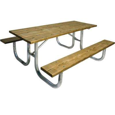 6 ft. Pressure Treated Wood Commercial Park Portable Table