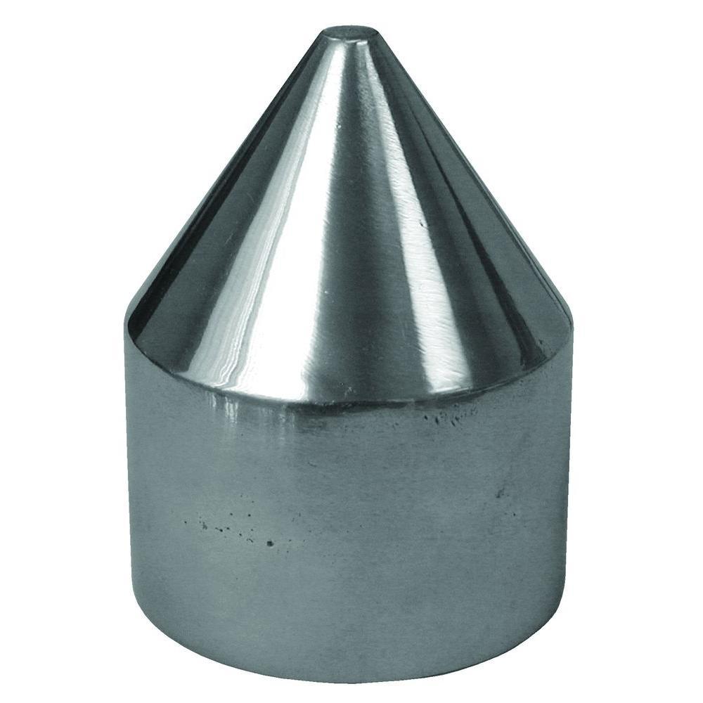 YARDGARD No-Way 2-3/8 in. Galvanized Aluminum Bullet Cap