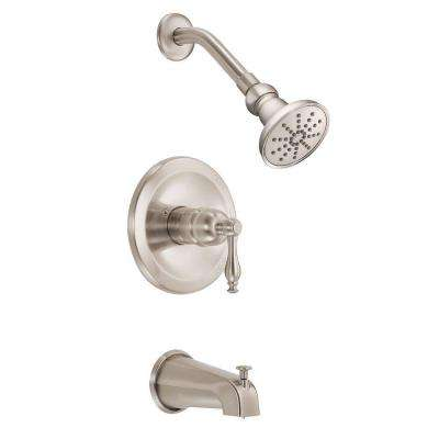 Sheridan 1-Handle Pressure Balance Tub and Shower Faucet Trim Kit in Brushed Nickel (Valve Not Included)